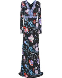 Emilio Pucci - Floral-print Jersey Gown - Lyst