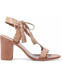 Zimmermann - Scalloped Leather Sandals - Lyst