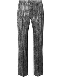 Étoile Isabel Marant - Dansley Cropped Textured-lamé Straight-leg Pants - Lyst