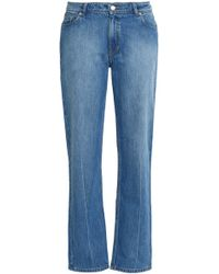Opening Ceremony - Faded Mid-rise Straight-leg Jeans Light Denim - Lyst