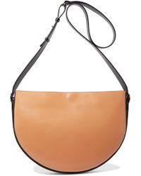 Victoria Beckham - Small Half Moon Leather And Suede Shoulder Bag - Lyst