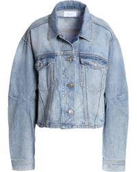 Current/Elliott - Faded Denim Jacket Mid Denim - Lyst