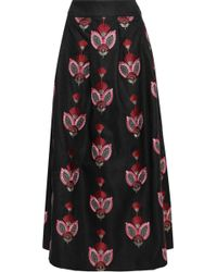 Antik Batik - Carmo Embroidered Cady Maxi Skirt - Lyst