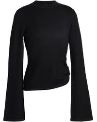 Mother Of Pearl - Faux Pearl-embellished Stretch-knit Sweater - Lyst