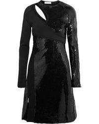 Mugler - Cutout Sequined Bonded Jersey Mini Dress - Lyst