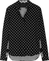 Stella McCartney | Printed Silk Crepe De Chine Shirt | Lyst