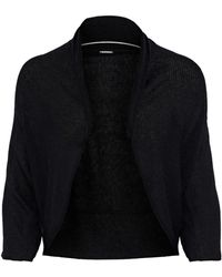 Elie Tahari - Shelby Ribbed Wool-blend Shrug - Lyst