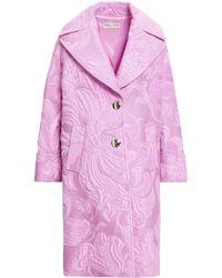 Emilio Pucci - Woman Cotton-blend Brocade Coat Lavender - Lyst