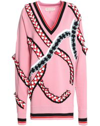 Emilio Pucci - Oversized Ruffle-trimmed Merino Wool Jumper - Lyst