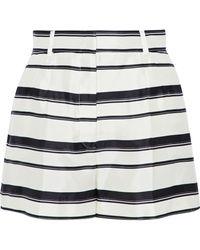 Dolce & Gabbana - Striped Silk-satin Twill Shorts - Lyst