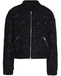 Needle & Thread - Embroidered Wool-blend Bomber Jacket - Lyst