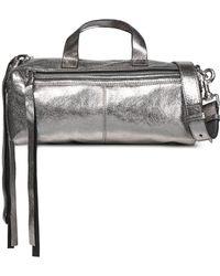 McQ - Metallic Leather Shoulder Bag - Lyst