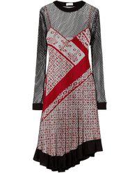 Altuzarra - Kleber Layered Net And Printed Silk Dress - Lyst