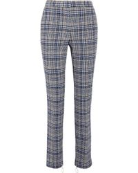 Off-White c/o Virgil Abloh - Prince Of Wales Checked Woven Skinny Trousers - Lyst