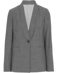 Brunello Cucinelli - Bead-embellished Wool-blend Blazer - Lyst