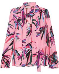 Nigeria Printed Silk-chiffon Blouse - Pink Emilio Pucci Sale Low Cost Cheap Pay With Paypal Original Shopping Online Outlet Sale bmAuoH42