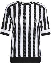 Nina Ricci - Striped Pointelle-knit Top - Lyst