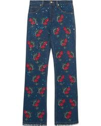 Ashish - Voyage Embellished Embroidered Mid-rise Straight-leg Jeans - Lyst