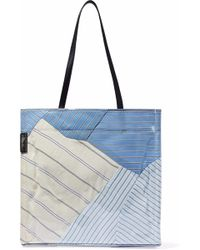 3.1 Phillip Lim - Leather-trimmed Striped Pvc Tote - Lyst