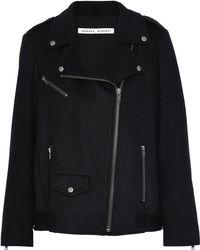 Rebecca Minkoff - Wool-blend Biker Jacket - Lyst