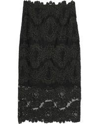Sandro - Rococo Metallic Guipure Lace Midi Skirt - Lyst