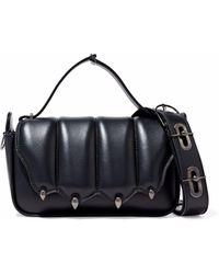 Marco De Vincenzo - Embellished Quilted Leather Shoulder Bag - Lyst