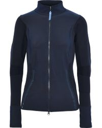 b320545546a adidas By Stella McCartney - Paneled Stretch-knit Track Jacket - Lyst