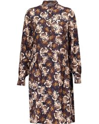 Mother Of Pearl | Carlthorp Pleated Floral-print Silk Crepe De Chine Dress  | Lyst