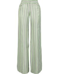 Sonia Rykiel - Striped Poplin Wide-leg Trousers - Lyst