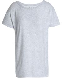 Petit Bateau - Cotton-jersey T-shirt Light Gray - Lyst
