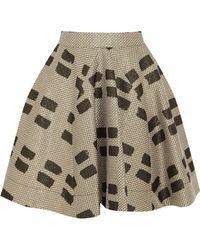 Vivienne Westwood Anglomania - Pleated Printed Woven Mini Skirt - Lyst
