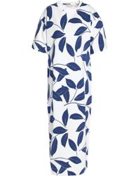 Marni - Printed Cotton-jersey Midi Dress - Lyst