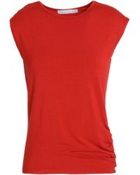 Kain - Ruched Stretch-jersey Top - Lyst