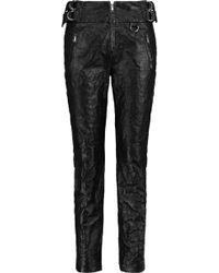 Isabel Marant - Textured-leather Slim-leg Trousers - Lyst