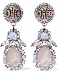 Elizabeth Cole - Silver-tone, Stone And Crystal Earrings - Lyst