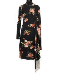 Vetements - Open-back Asymmetric Floral-print Stretch-jersey Dress - Lyst
