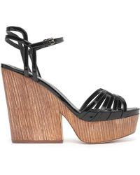 Sergio Rossi - Patent-leather Platform Sandals - Lyst