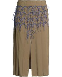 Marco De Vincenzo - Bow-detailed Woven Skirt - Lyst