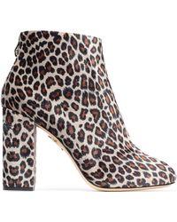 Charlotte Olympia - Alba Animal-print Velvet Ankle Boots - Lyst