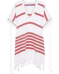 Koza - Melissa Fringe-trimmed Striped Cotton Kaftan - Lyst