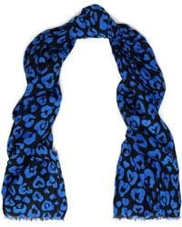 COACH - Leopard-print Cotton And Silk-blend Scarf - Lyst
