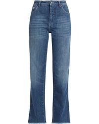 Alexa Chung Woman Mid-rise Straight-leg Jeans Ecru Size 24 AlexaChung 4A0E8W