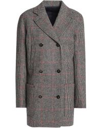 Vanessa Seward - Double-breasted Checked Wool Jacket - Lyst
