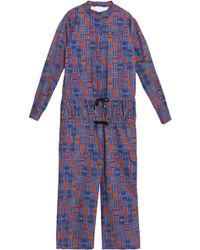 Stella Jean - Smocked Printed Cotton-blend Jumpsuit - Lyst