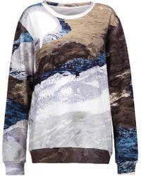 MM6 by Maison Martin Margiela - Printed Cotton Sweatshirt - Lyst