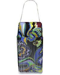 Emilio Pucci - Fringed Printed Twill Shoulder Bag - Lyst