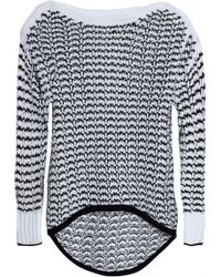 Rag & Bone - Daniela Two-tone Open-knit Jumper - Lyst