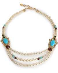 Ben-Amun - Gold-tone, Stone And Crystal Beaded Necklace - Lyst