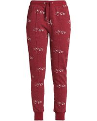 Zoe Karssen - Printed Cotton-blend Terry Track Trousers - Lyst