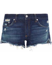 Rag & Bone - Doris Distressed Denim Shorts Dark Denim - Lyst